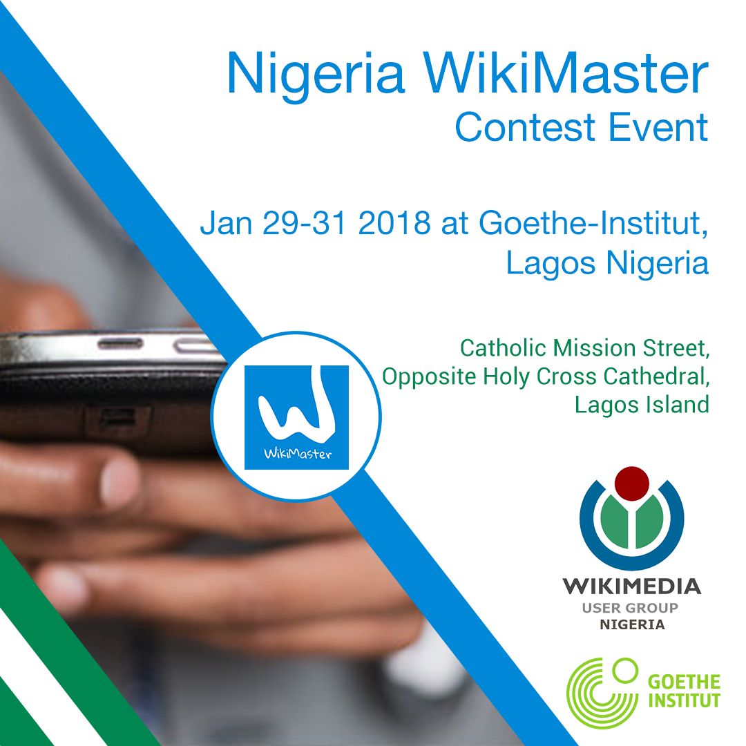 Schedule for WikiMaster Event Lagos, Nigeria on Jan 29-31, 2018
